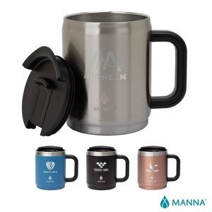 Manna 14 oz. Boulder Steel Camping Mug w/ Handle