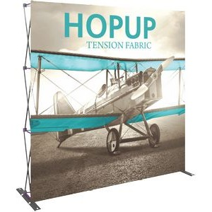 Hopup 8ft Full Height Straight Display & Front Graphic